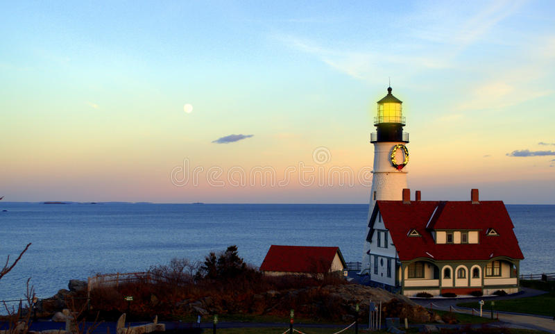 Portland Head Lighthouse,, Cape Elizabeth Maine stock photo