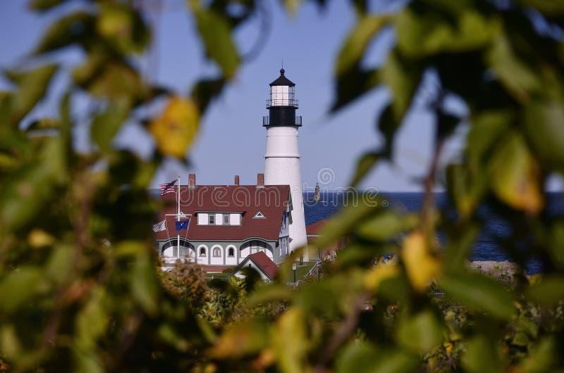 The Portland Head Lighthouse stock image