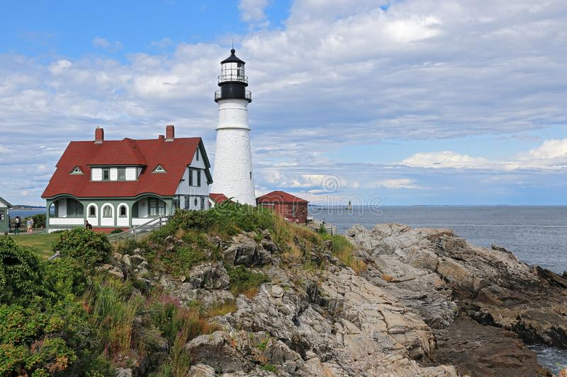 Portland Head Lighthouse at Cape Elizabeth, Maine. Portland Head Lighthouse at Cape Elizabeth, Portland, Maine royalty free stock images