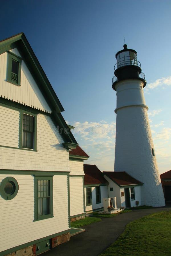 Portland Head Lighthouse closeup royalty free stock photo