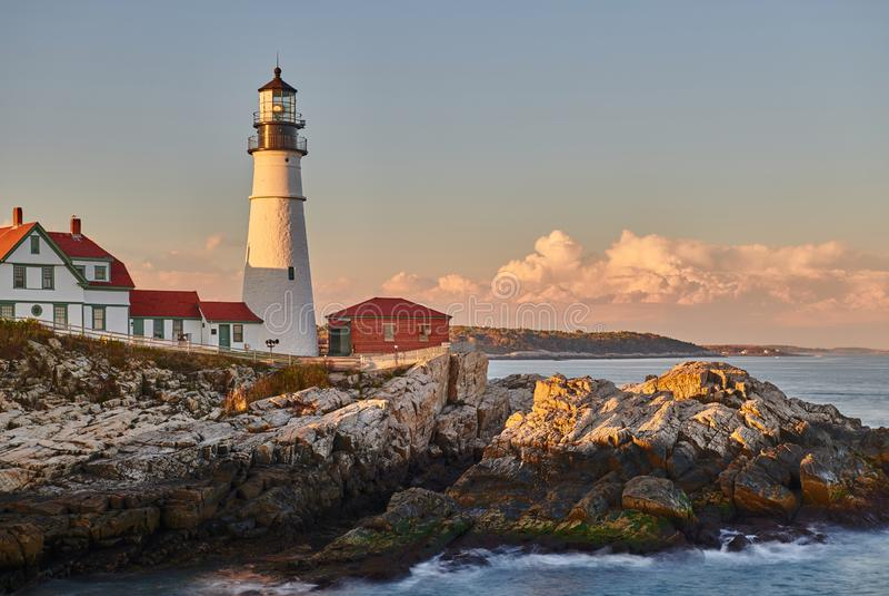 Portland Head Lighthouse, Maine, USA royalty free stock photography