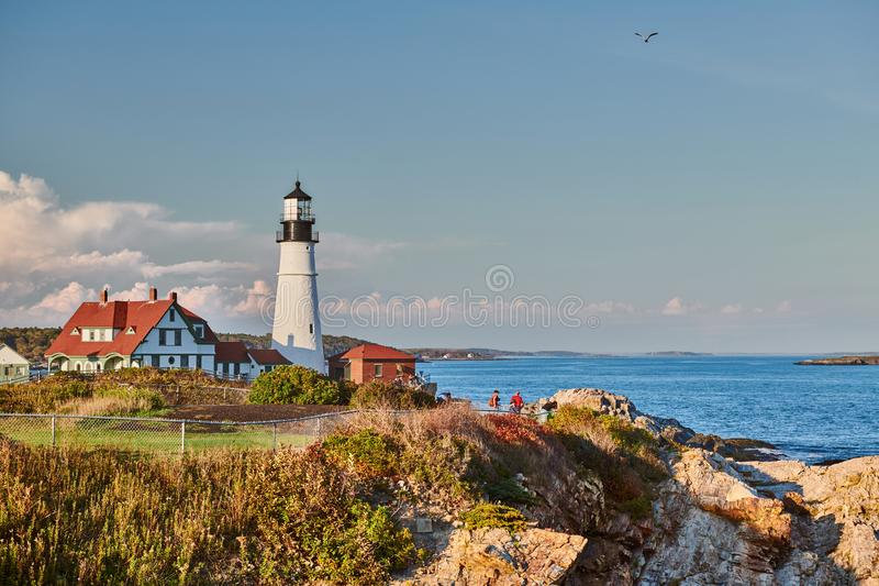 Portland Head Lighthouse, Maine, USA royalty free stock image