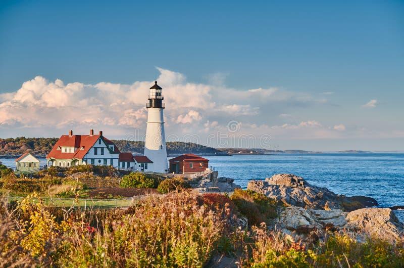 Portland Head Lighthouse, Maine, USA stock photography