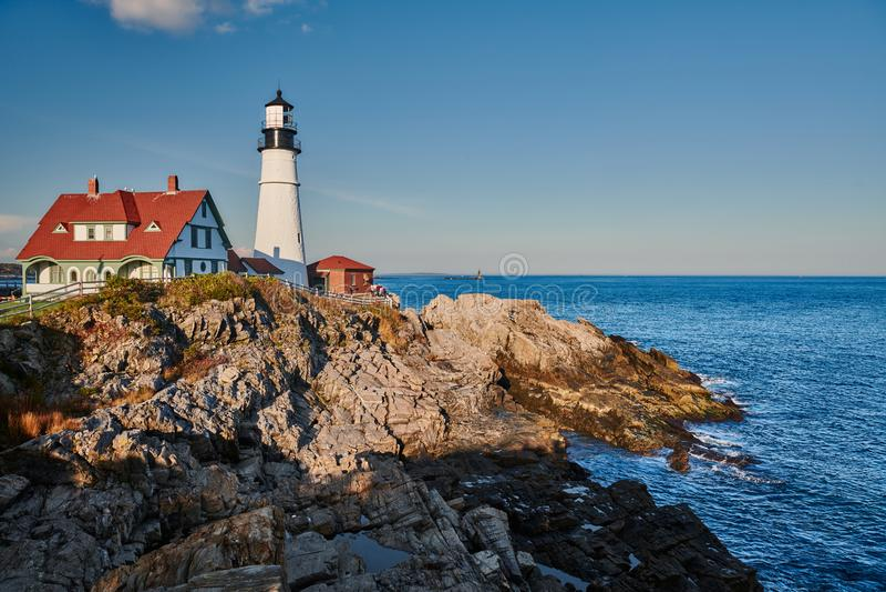 Portland Head Lighthouse, Maine, USA royalty free stock photo