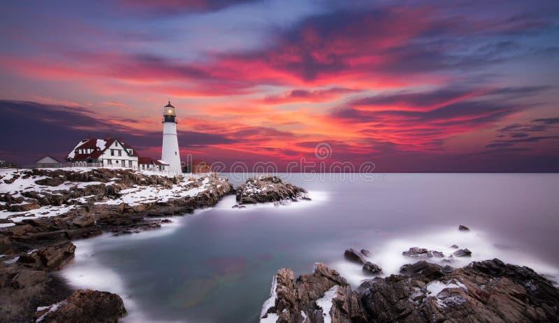 Portland Headlight, Cape Elizabeth Maine royalty free stock photography