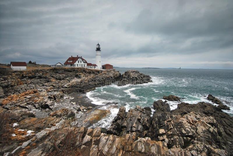 Portland Headlight in Maine stock photography