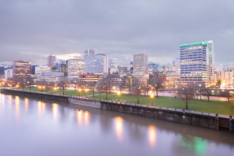 Portland horisont fotografering för bildbyråer