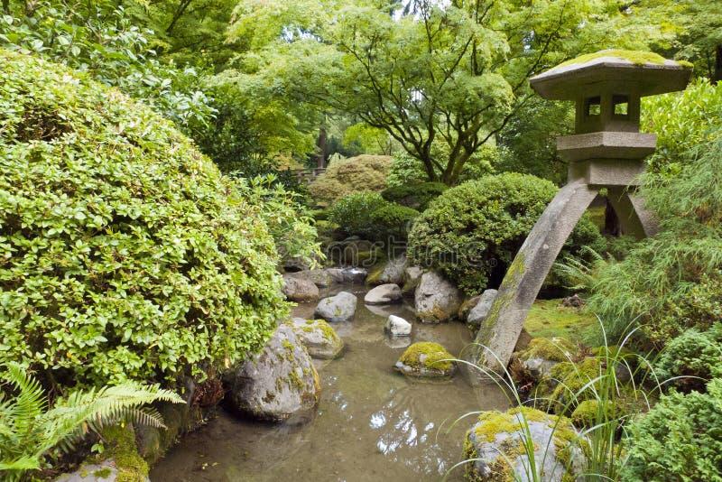 Portland Japanese Garden. Portland, Oregon, United States stock image