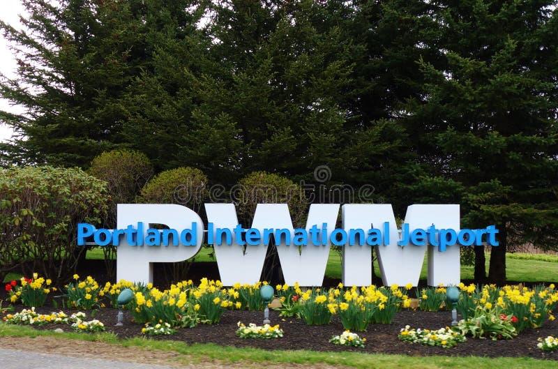 Portland Jetport international (PWM) images libres de droits