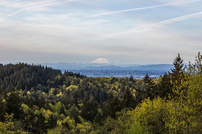 Portland Landscape with Mount St Helens in Distance stock photos