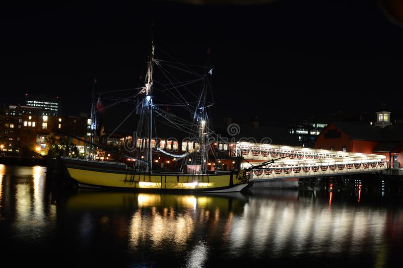 Portland, Oregon - USA - October 5, 2015: Portland Oregon waterfront at night. Portland, the largest city in the U.S. state of Oregon, is the site of 29 stock photo