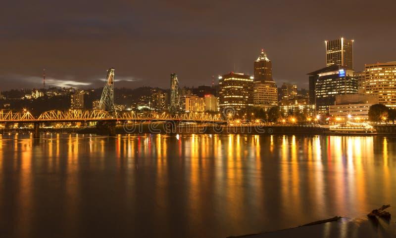 Portland-Lichter lizenzfreies stockbild