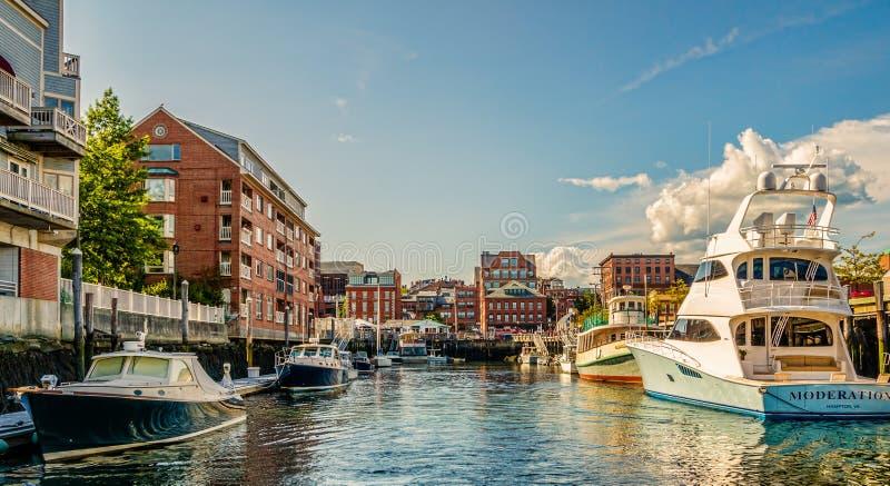 Portland Maine fotografia stock libera da diritti