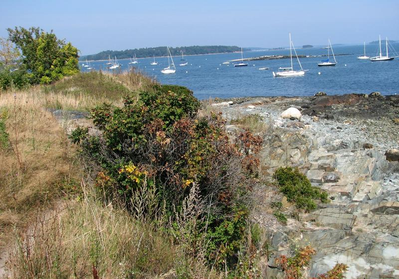 Portland Maine fotografia stock
