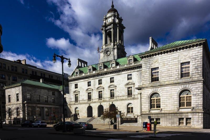 Portland Maine City Hall fotos de stock royalty free