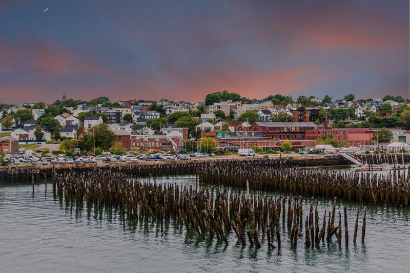 Portland Maine at Dawn royalty free stock photography
