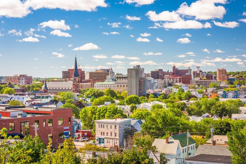 Portland, Maine, horizon du centre des Etats-Unis photographie stock libre de droits