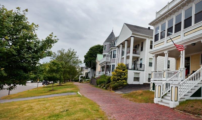 Portland Maine Neighborhood Block fotos de stock