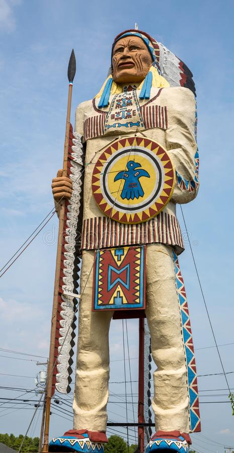 Native American chief statue royalty free stock images