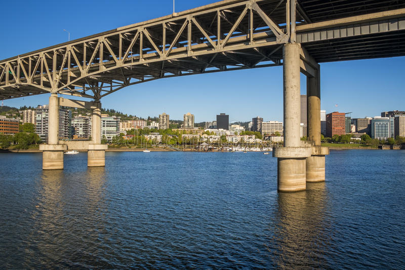 Portland Marquam Bridge stock photography