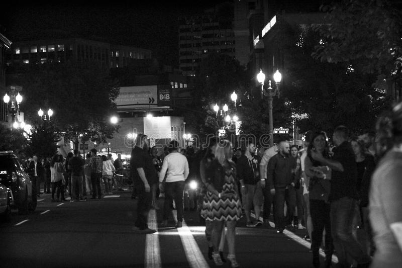 Portland night life! stock photo