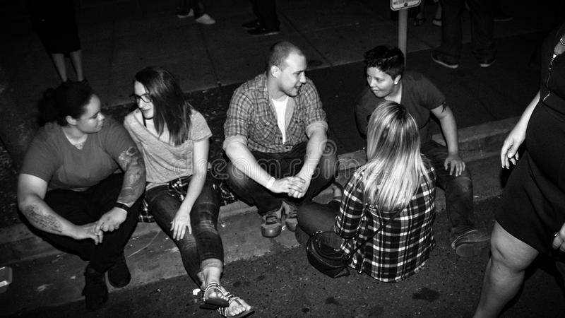 Portland night life! stock photos