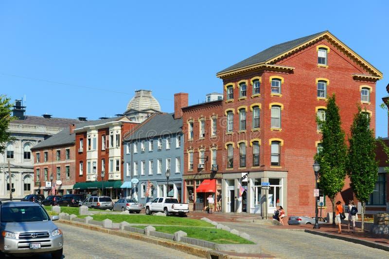 Portland Old Port, Maine, USA royalty free stock image