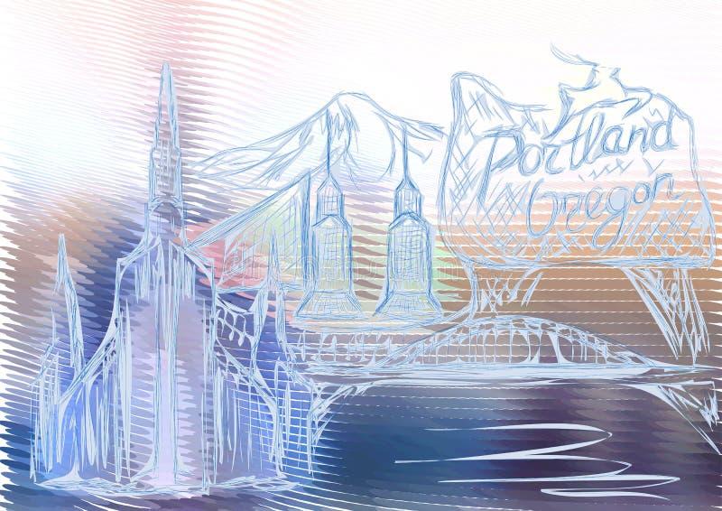 Portland Orégon illustration libre de droits