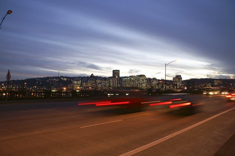 Portland, Orégon de la passerelle de Burnside photos libres de droits