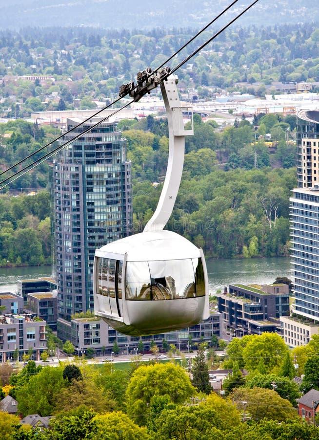 Portland Oregon aerial tram stock image