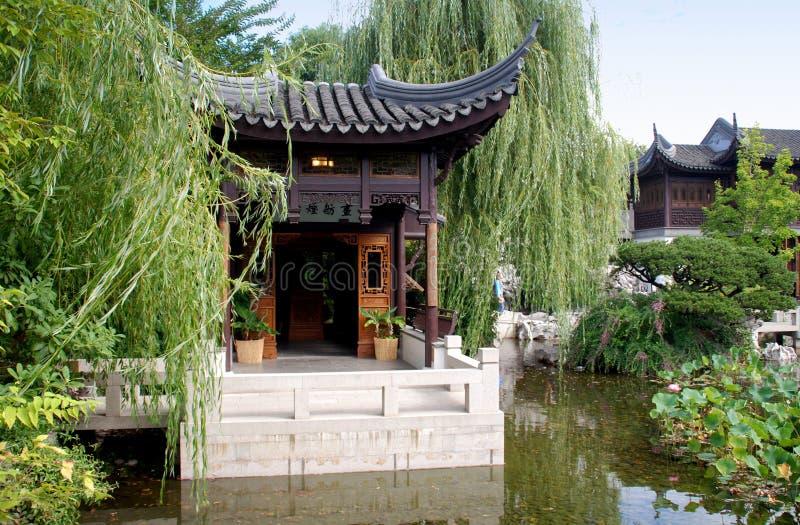 Portland, Oregon: Chinese Classical Garden stock image