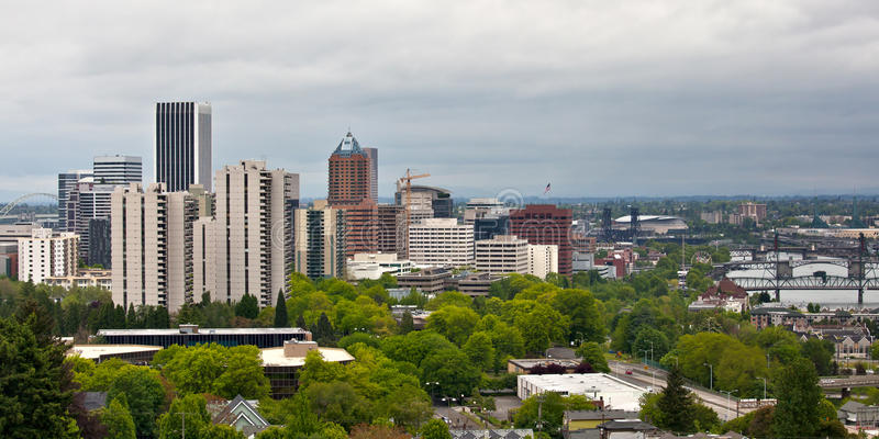 Download Portland Oregon Downtown stock photo. Image of cityscape - 19710932