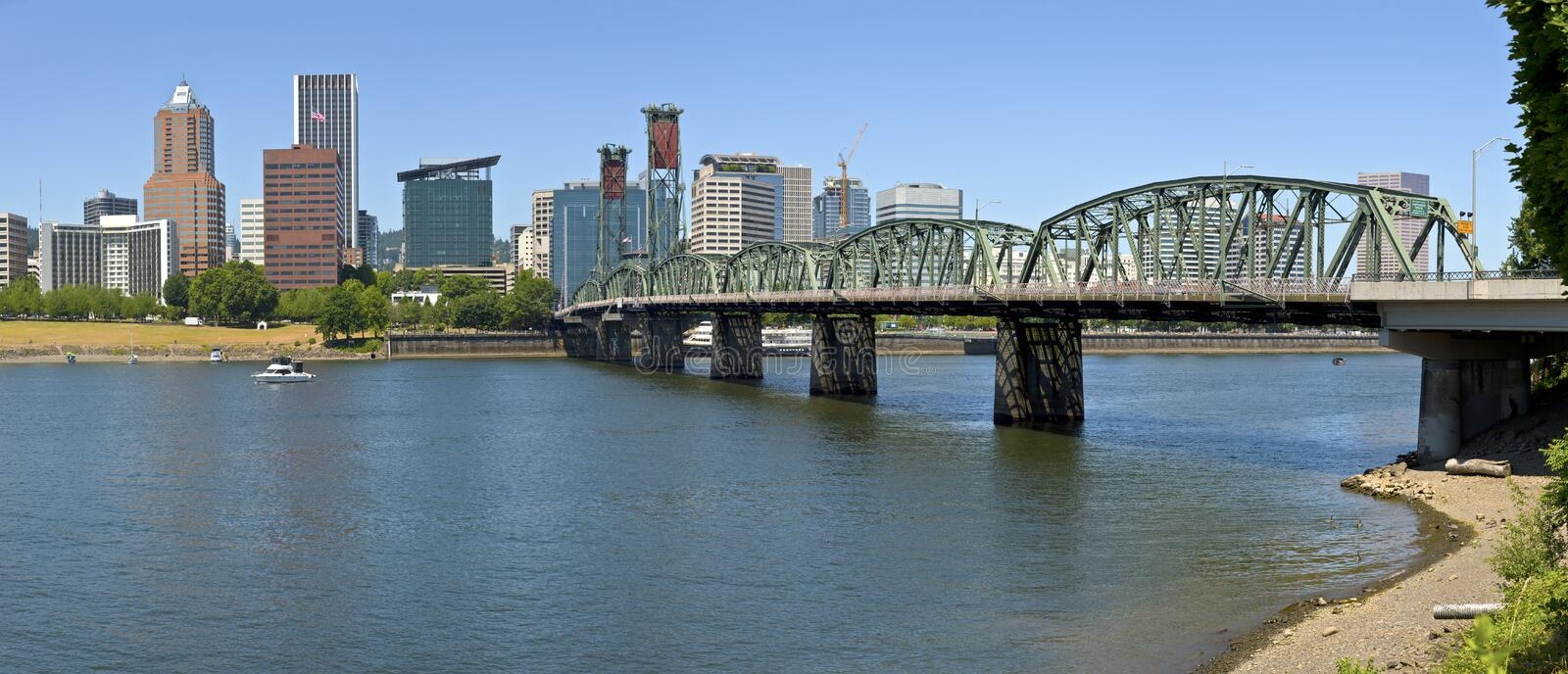 Portland Oregon downtown skyline panorama. royalty free stock photography