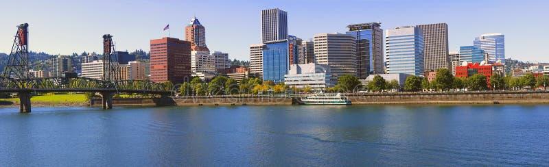 Portland Oregon panorama. stock images
