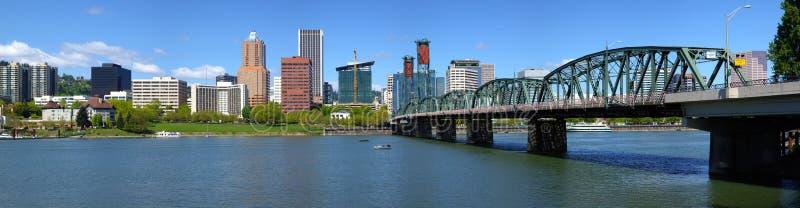 Portland Oregon skyline panorama. royalty free stock image