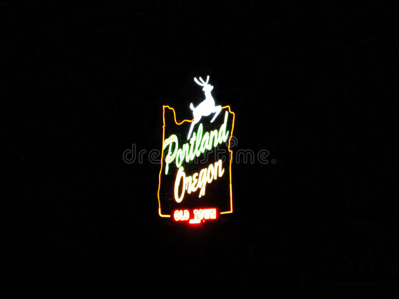 Portland Oregon Old Town Stag Sign Isolated royalty free stock images