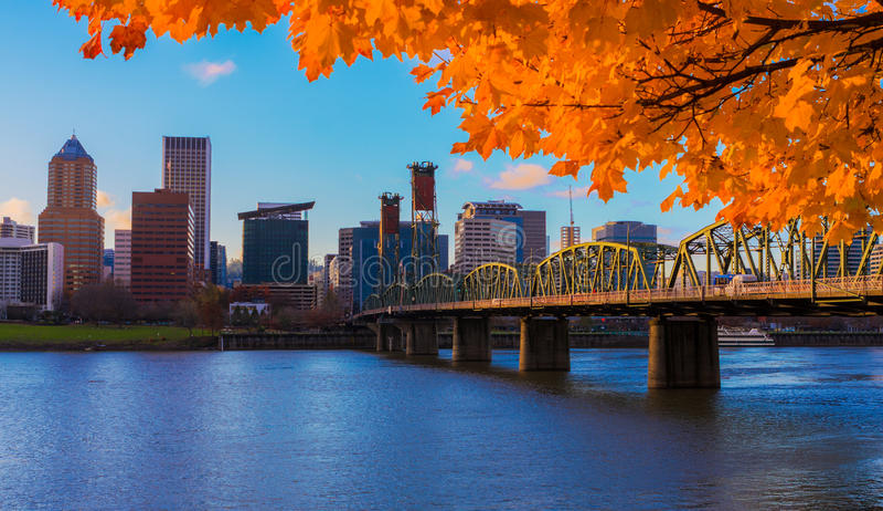 Portland, Oregon-Ufergegend stockfotografie