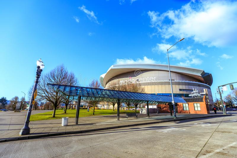 Moda Center, formerly known as the Rose Garden, is the primary i royalty free stock photo