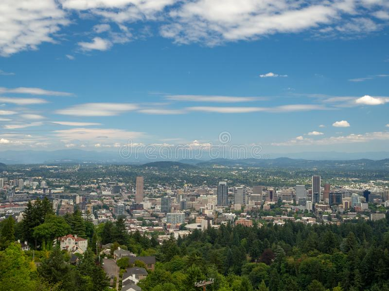 Portland, Oregon, USA: Portland City Skyline and Downtown stock photos