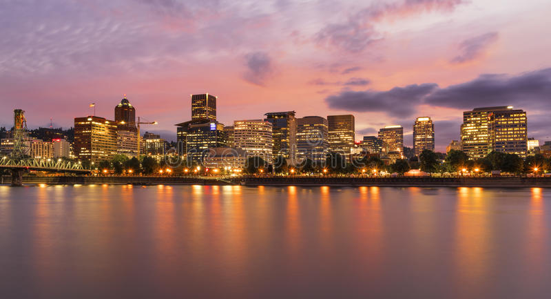 Portland, OU horizon photographie stock