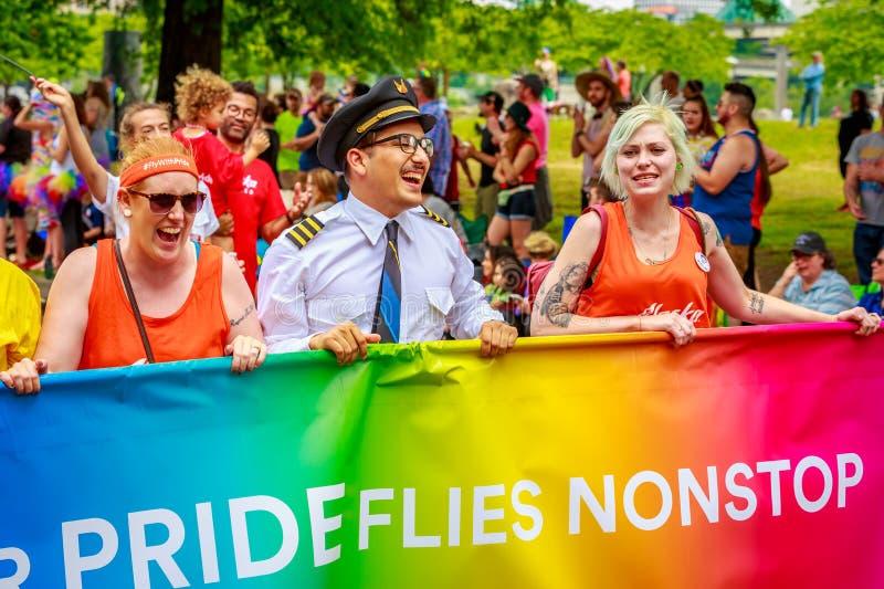Portland Pride Parade 2017 images stock