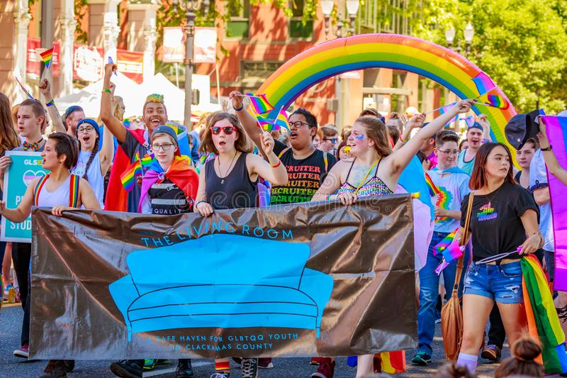 Portland Pride Parade 2018 royalty free stock photography