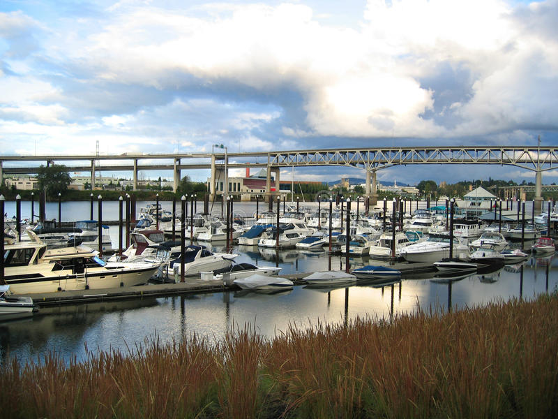 Portland river harbor royalty free stock images