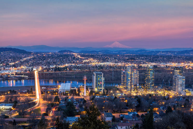 Portland södra strand på solnedgången arkivbild