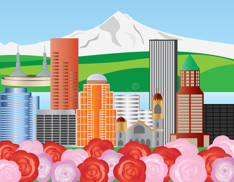 Download Portland Skyline Illustration Stock Images - Image: 24424614