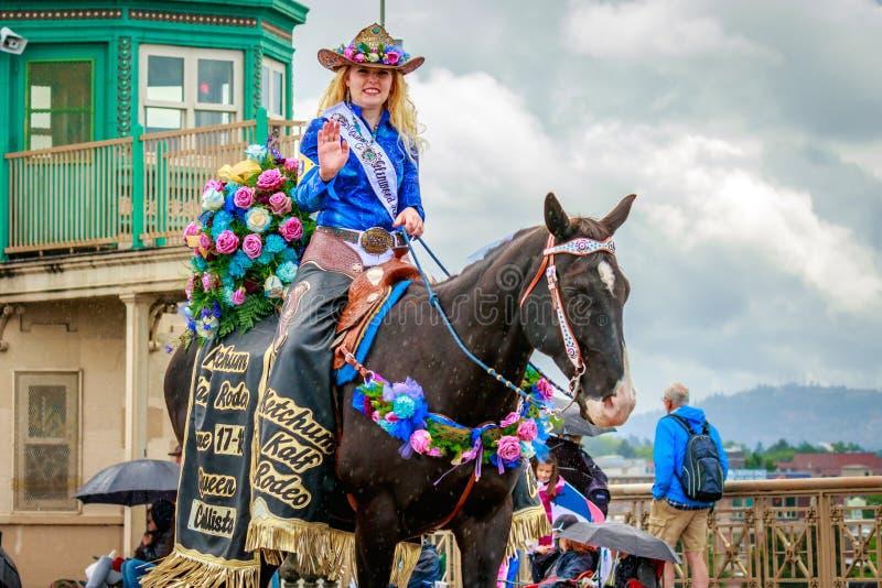 Portland ståtar storslaget blom- 2017 royaltyfri fotografi