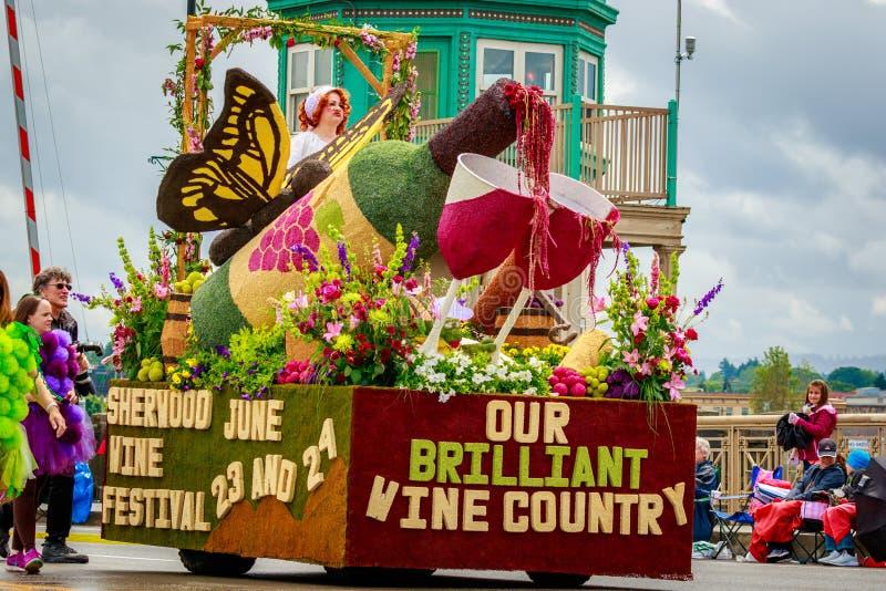 Portland ståtar storslaget blom- 2017 arkivfoto