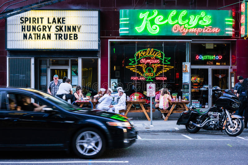 Portland-Stange lizenzfreie stockfotografie