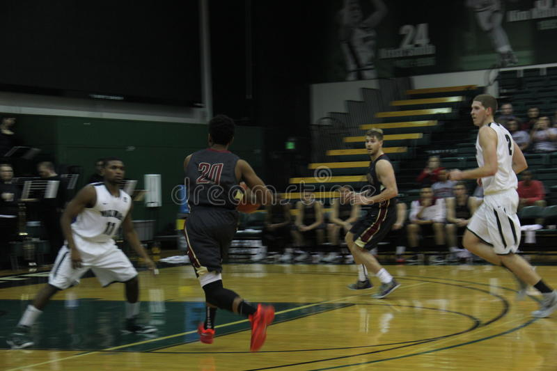 PORTLAND STATE. VS WILLAMETTE at the Stott Center collage stock image