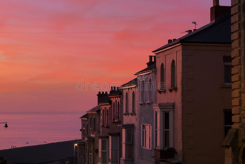 Portland Sunset. Sunset on Isle of Portland Dorset stock image